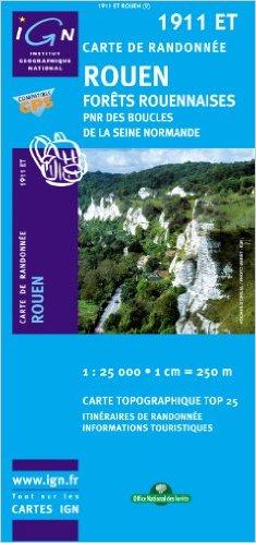 1911ET  Rouen | wandelkaart 1:25.000 9782758516309  IGN IGN 25 Normandië  Wandelkaarten Normandië