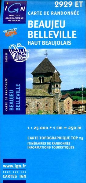 2929ET  La Chapelle-de-Guinchay | wandelkaart 1:25.000 9782758516323  IGN TOP 25  Wandelkaarten Bourgogne
