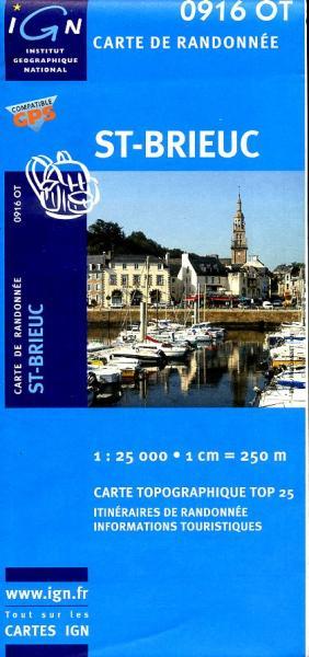 0916OT  St-Brieuc, Plouha, Binic | wandelkaart 1:25.000 9782758518044  IGN TOP 25  Wandelkaarten Bretagne
