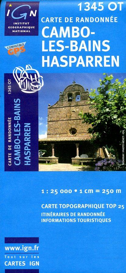 1345OT   Cambo-les-Bains | wandelkaart 1:25.000 9782758518068  IGN TOP 25  Wandelkaarten Baskenland, Franse Pyreneeën