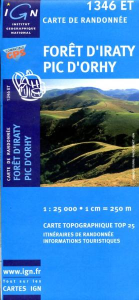 1346ET   Foret d'Iraty, Pic d'Orhy | wandelkaart 1:25.000 9782758518075  IGN IGN 25 Pyreneeën  Wandelkaarten Baskenland, Franse Pyreneeën