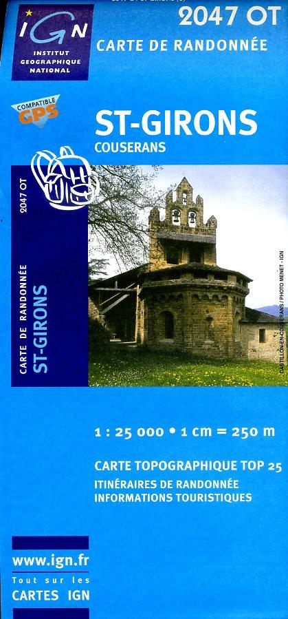 2047OT   St-Girons | wandelkaart 1:25.000 9782758518150  IGN IGN 25 Franse Pyreneeën  Wandelkaarten Franse Pyreneeën