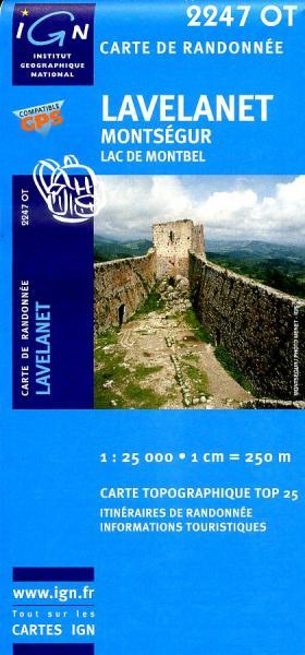 2247OT   Lavelanet, Chalabre | wandelkaart 1:25.000 9782758518242  IGN TOP 25  Wandelkaarten Franse Pyreneeën