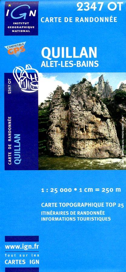 2347OT  omgeving Quillan | wandelkaart 1:25.000 9782758518297  IGN IGN 25 Franse Pyreneeën  Wandelkaarten Franse Pyreneeën