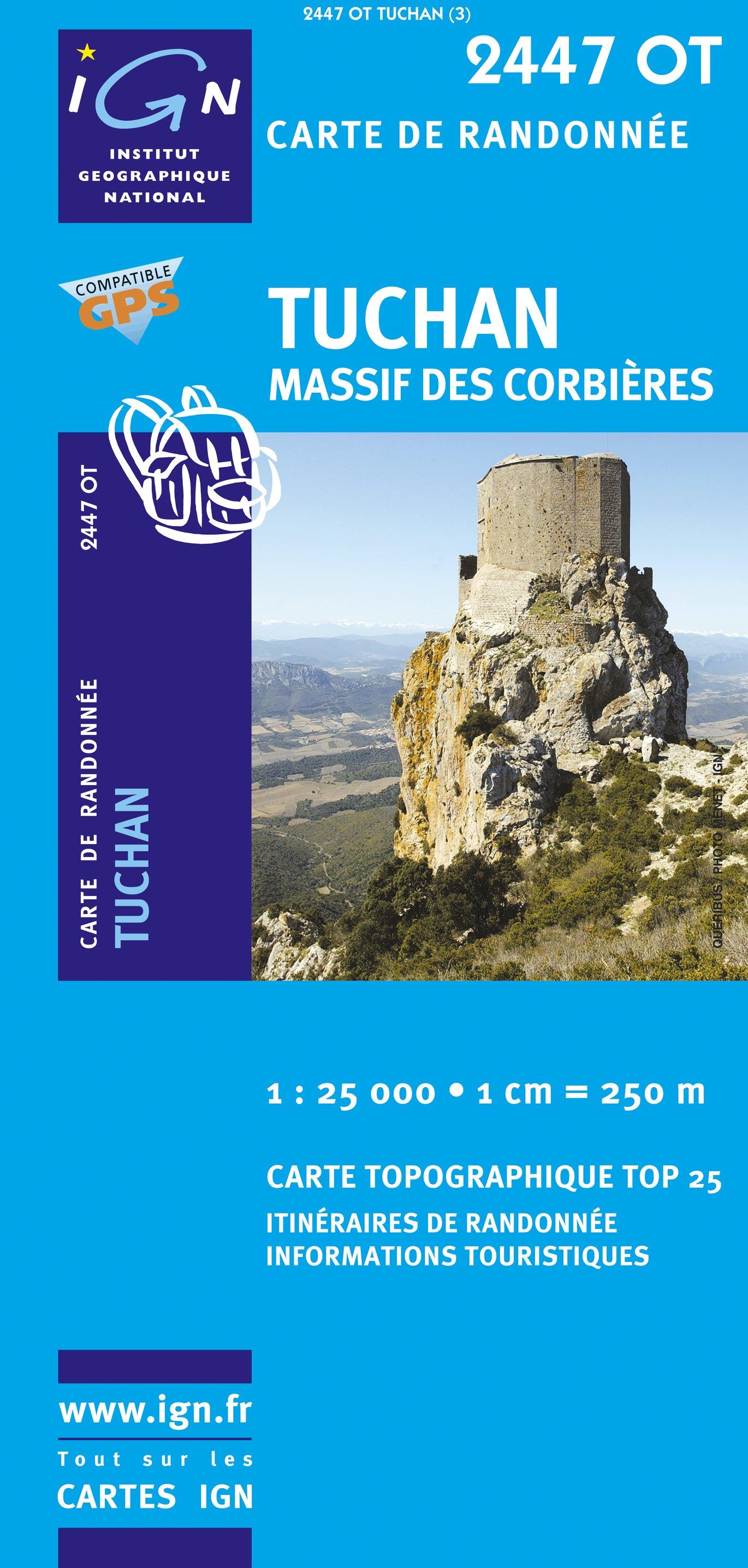 2447OT  Mouthoumet, Tuchan | wandelkaart 1:25.000 9782758518327  IGN TOP 25  Wandelkaarten Cevennen, Languedoc