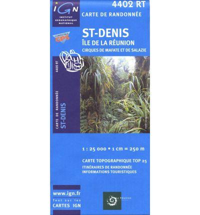 4402RT  St-Denis / Cirques de Mafate & Salazie, Reunion | wandelkaart 1:25.000 9782758518457  IGN TOP 25  Wandelkaarten Seychellen, Reunion, Comoren, Mauritius