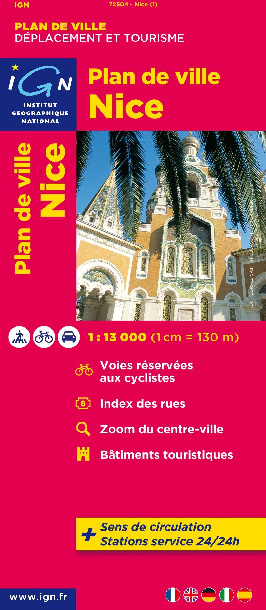 Nice, plan de Ville 9782758520498  IGN   Stadsplattegronden Côte d'Azur