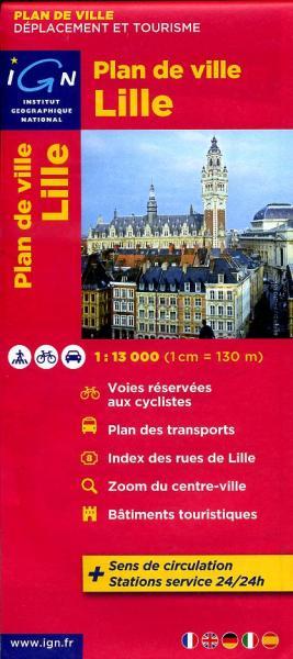 Lille (Rijsel) 9782758520719  IGN   Stadsplattegronden Picardie, Nord