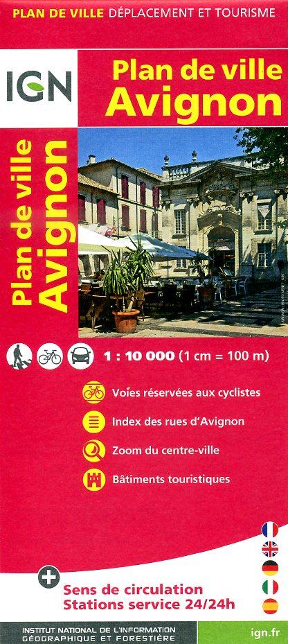Avignon, Plan de 9782758520825  IGN   Stadsplattegronden Provence, Marseille, Camargue