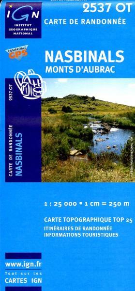 2537OT Nasbinals, Monts d'Aubrac | wandelkaart 1:25.000 9782758521242  IGN TOP 25  Wandelkaarten Cevennen, Languedoc