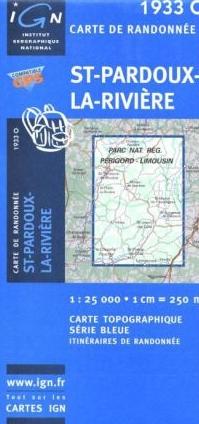 1933 Ouest  St-Pardoux-la-Rivière 9782758521617  IGN IGN 25  Wandelkaarten Zuidwest-Frankrijk