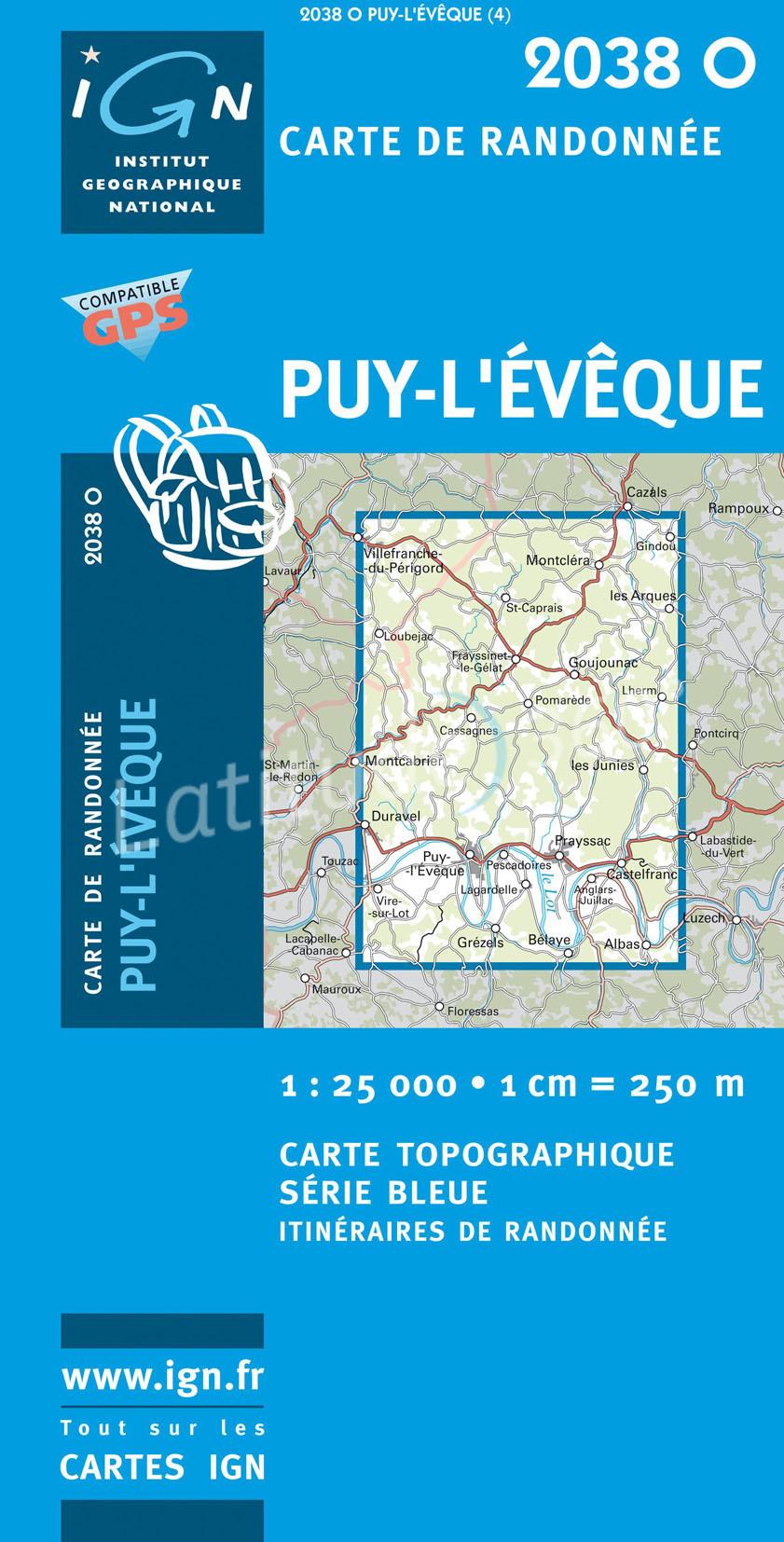 2038 Ouest   Puy-l Eveque, Frayssinet-le-Gélat 9782758521754  IGN IGN 25 Creuse & Corrèze  Wandelkaarten Creuse, Corrèze