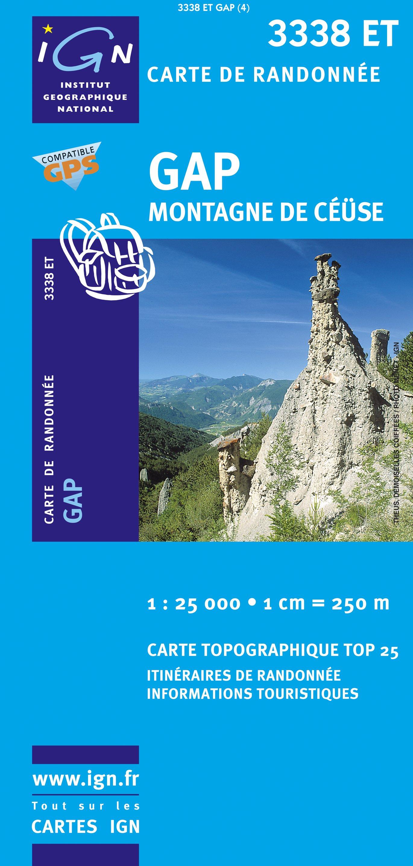 3338ET  Gap, Montagne de Céüse | wandelkaart 1:25.000 9782758522614  IGN IGN 25 Franse Alpen/ zuidhelft  Wandelkaarten Franse Alpen: zuid