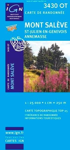 3430OT  Mont Salève, Cruseilles | wandelkaart 1:25.000 9782758522676  IGN IGN 25 Franse Alpen/ Nrd.helft  Wandelkaarten Franse Alpen: noord