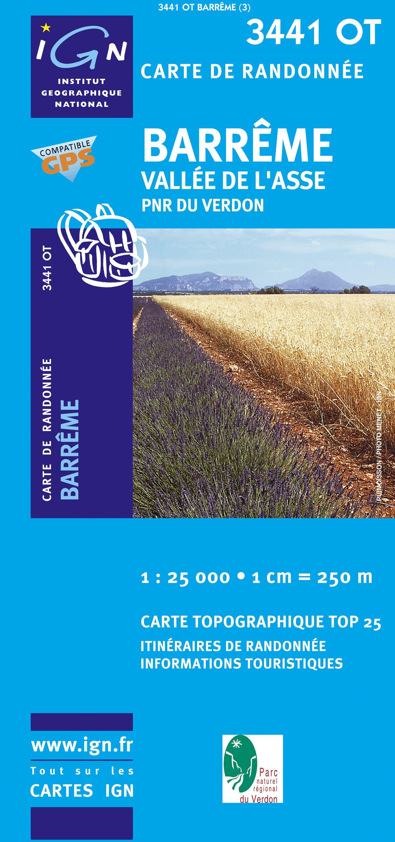 3441OT   Mézel, Barrême, Senez | wandelkaart 1:25.000 9782758522744  IGN IGN 25 Franse Alpen/ zuidhelft  Wandelkaarten Franse Alpen: zuid