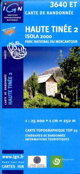3640ET  Haute-Tinée 2, Isola 2000   wandelkaart 1:25.000 9782758523833  IGN TOP 25  Wandelkaarten Franse Alpen: zuid