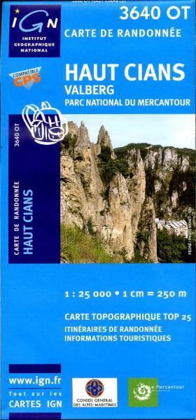 3640OT   Valberg, Haut Cians | wandelkaart 1:25.000 9782758523840  IGN IGN 25 Franse Alpen/ zuidhelft  Wandelkaarten Franse Alpen: zuid