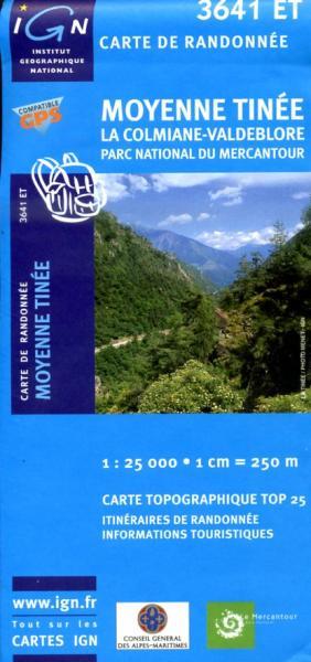 3641ET  Moyenne Tinée | wandelkaart 1:25.000 9782758523857  IGN IGN 25 Franse Alpen/ zuidhelft  Wandelkaarten Franse Alpen: zuid