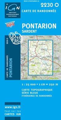 2230Ouest Pontarion Sardent 9782758525509  IGN Serie Bleue  Wandelkaarten Creuse, Corrèze