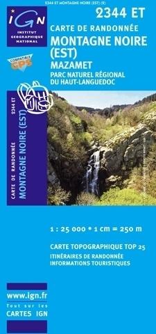 2344ET Mazamet, St-Amans-Soult | wandelkaart 1:25.000 9782758525868  IGN TOP 25  Wandelkaarten Cevennen, Languedoc