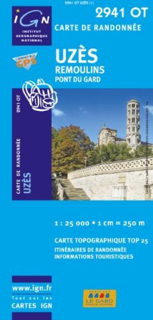 2941OT Uzès, Remoulins, Pont du Gard | wandelkaart 1:25.000 9782758525950  IGN IGN 25 Cevennen & Languedoc  Wandelkaarten Cevennen, Languedoc