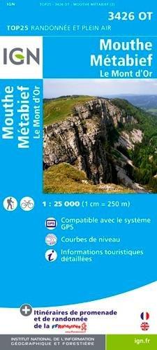 3426OT  Mouthe, Metabief | wandelkaart 1:25.000 9782758526032  IGN TOP 25  Wandelkaarten Franse Jura