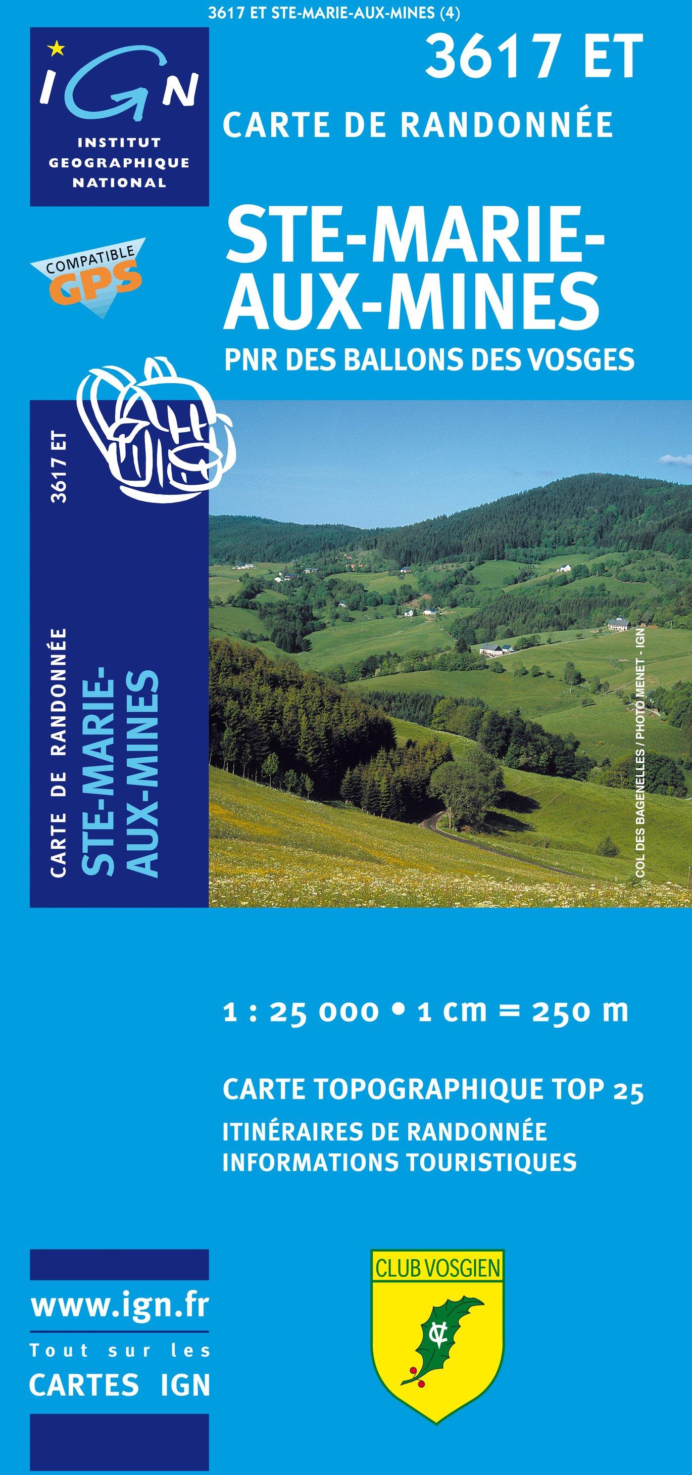 3617ET  Ste-Marie-Aux-Mines | wandelkaart 1:25.000 9782758526049  IGN TOP 25  Wandelkaarten Vogezen