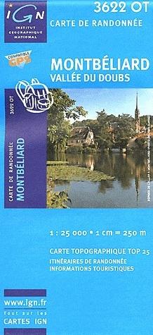 3622OT  Montbéliard,  Vallée du Doubs | wandelkaart 1:25.000 9782758526063  IGN TOP 25  Wandelkaarten Franse Jura
