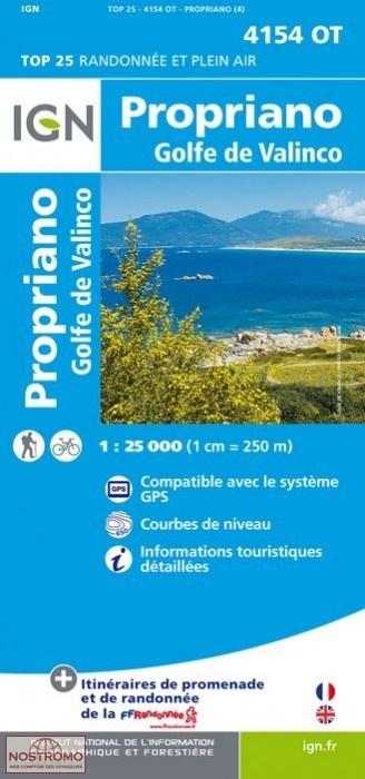 4154OT  Propriano, Environs de | wandelkaart 1:25.000 9782758528142  IGN TOP 25  Wandelkaarten Corsica