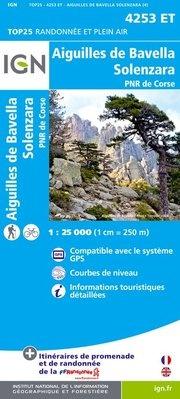 4253ET: Aiguilles de Bavella | wandelkaart 1:25.000 9782758528197  IGN TOP 25  Wandelkaarten Corsica