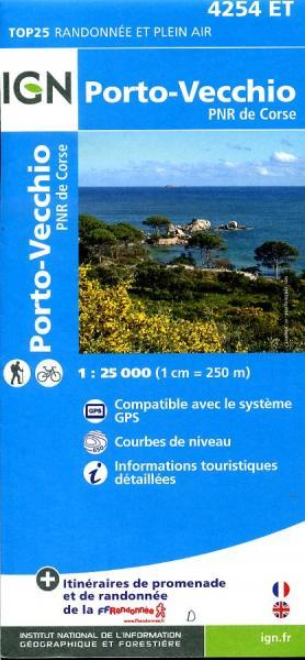 4254ET: Porto Vecchio | wandelkaart 1:25.000 9782758528210  IGN TOP 25  Wandelkaarten Corsica