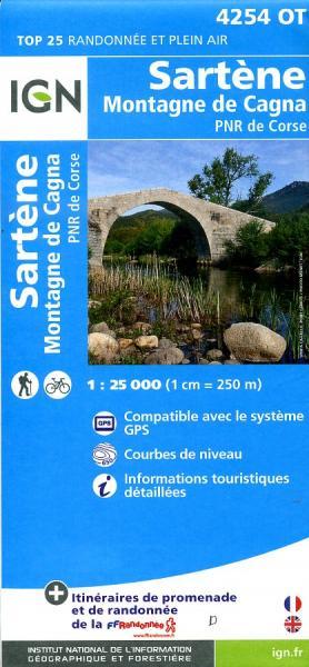 4254OT  Sartène, Ste-Lucie-de-Tallano | wandelkaart 1:25.000 9782758528227  IGN IGN 25 Corsica  Wandelkaarten Corsica