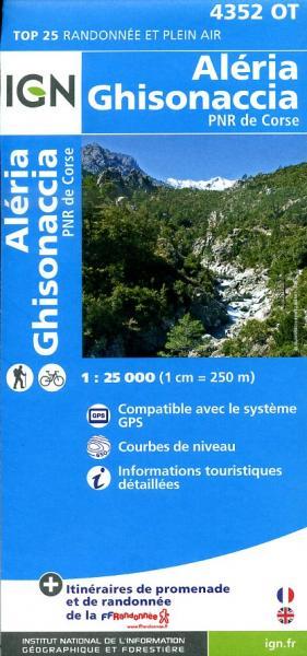 4352OT  Vezzani, Ghisonaccia, Aleria | wandelkaart 1:25.000 9782758528265  IGN IGN 25 Corsica  Wandelkaarten Corsica