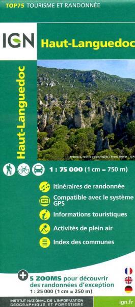 Haut-Languedoc | IGN overzichts- en wandelkaart 9782758528999  IGN TOP 75  Fietskaarten, Wandelkaarten Cevennen, Languedoc