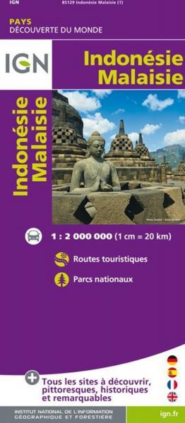 Indonesië, Maleisië 1:2.000.000 9782758531265  IGN   Landkaarten en wegenkaarten Indonesië
