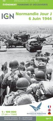 Normandië - Jour J - 6 juni 1944 1:100.000 9782758532446  IGN   Historische reisgidsen, Landkaarten en wegenkaarten Normandië