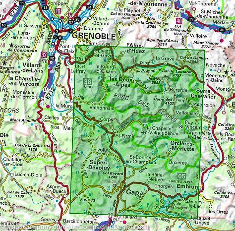 Massif des Écrins, Oisans, Champsaur | IGN overzichts- en wandelkaart 9782758532705  IGN TOP 75  Landkaarten en wegenkaarten, Wandelkaarten Franse Alpen: zuid