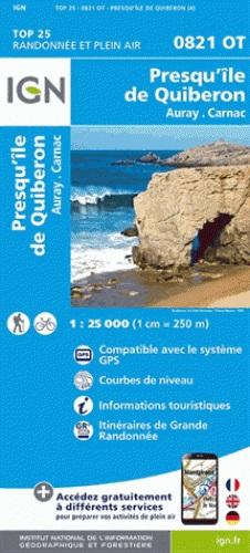0821OT  Presqu'île de Quiberon, Carnac | wandelkaart 1:25.000 9782758533665  IGN TOP 25  Wandelkaarten Bretagne