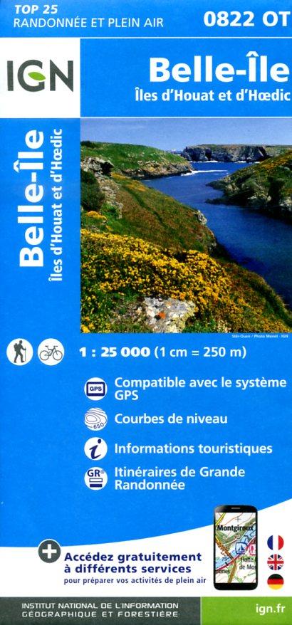 0822OT   Belle-Île | wandelkaart 1:25.000 9782758533672  IGN IGN 25 Bretagne  Wandelkaarten Bretagne