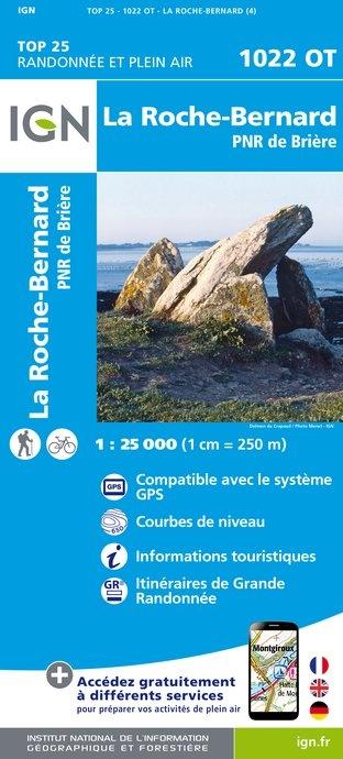 1022OT  La Roche-Bernard, Muzillac | wandelkaart 1:25.000 9782758533733  IGN IGN 25 Bretagne  Wandelkaarten Loire & Centre