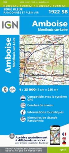 SB-1922SB Amboise/Montlouis-sur-Loire  | wandelkaart 1:25.000 9782758534037  IGN Serie Bleue (vernieuwd)  Wandelkaarten Loire & Centre