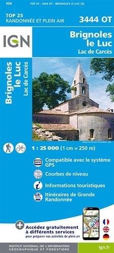 3444OT  Brignoles, Le Luc | wandelkaart 1:25.000 9782758534471  IGN TOP 25  Wandelkaarten Côte d'Azur