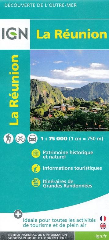 512 La Réunion 1:100.000 9782758534488  IGN   Landkaarten en wegenkaarten Seychellen, Reunion, Comoren, Mauritius