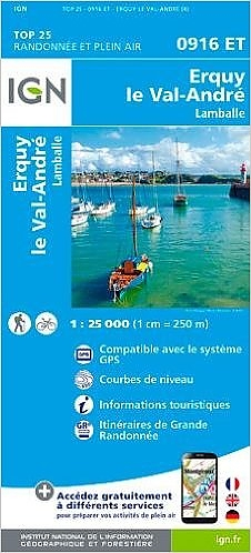 0916ET  Erquy, le Val André, Lamballe | wandelkaart 1:25.000 9782758534938  IGN IGN 25 Bretagne  Wandelkaarten Bretagne