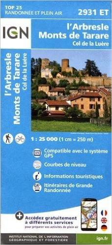 2931ET   l'Arbresle | wandelkaart 1:25.000 9782758535003  IGN TOP 25  Wandelkaarten Lyon en omgeving