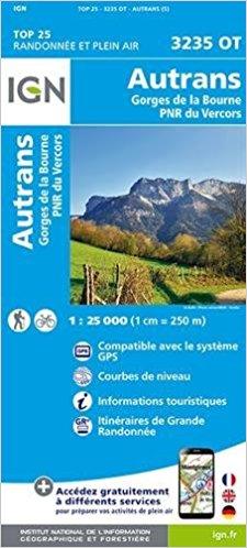 3235OT  Autrans, Lans-en-Vercors | wandelkaart 1:25.000 9782758535072  IGN IGN 25 Franse Alpen/ Nrd.helft  Wandelkaarten Franse Alpen: noord