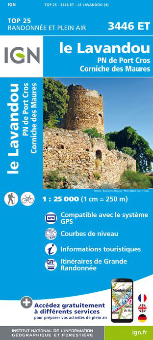 3446ET  Le Lavandou | wandelkaart 1:25.000 9782758535133  IGN IGN 25 Côte-d'Azur, Var  Wandelkaarten Côte d'Azur