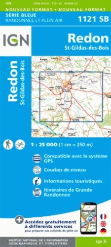 SB-1121SB  Redon, St-Gildas-des-Bois | wandelkaart 1:25.000 9782758535294  IGN Serie Bleue (vernieuwd)  Wandelkaarten Bretagne