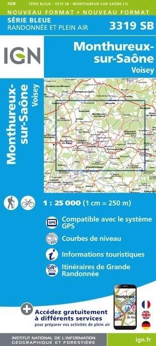 SB-3319SB  Monthureux-sur-Saône | wandelkaart 1:25.000 9782758535782  IGN Serie Bleue (vernieuwd)  Wandelkaarten Lotharingen, Nancy, Metz