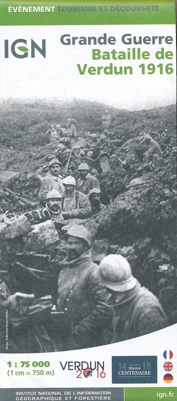 Bataille de Verdun-1916 9782758535805  IGN   Landkaarten en wegenkaarten Champagne, Franse Ardennen